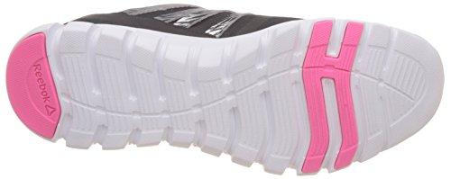 Reebok Sublite Xt Cushion Shtrmt, Scarpe da Corsa Donna Multicolore (Negro / Plateado / Rosa / Blanco (Black / Silver / Solar Pink / White))