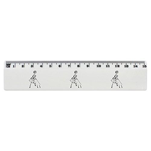 Azeeda 'Vierzigerjahre Weinlese-Ballkleid' 15cm (6 Zoll) weißer Kunststoff Herrscher (RL00004599)