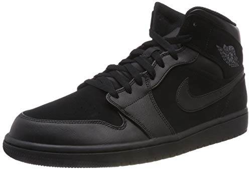 8c8e1ad82c Nike Air Jordan 1 Mid, Chaussures de Basketball Homme, Noir (Black/Dark