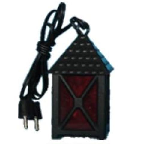 Plastica Lanterna rossa, 4 quadrati, altezza 4 centimetri