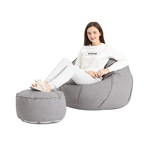 Jie ke sacchetto di fagioli divano pigro carino creativo lavabile lavabile panca morbida camera singola con finestra a bovindo comodo divano (colore : grigio chiaro)