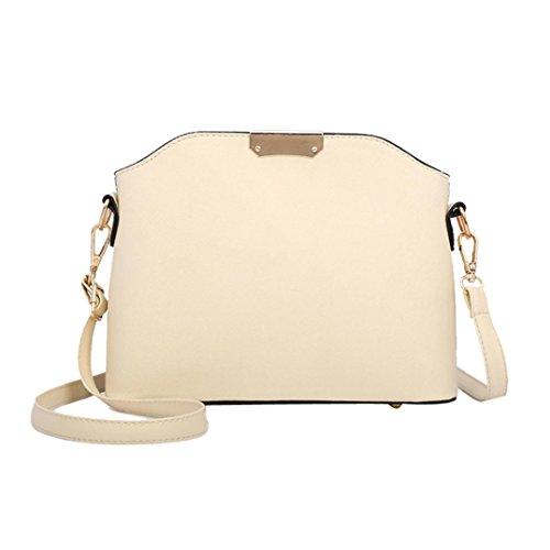 Kangrunmy borsa donna colore puro messenger borse tracolla borse tracolla messenger borse tracolla donna 2018 (beige)