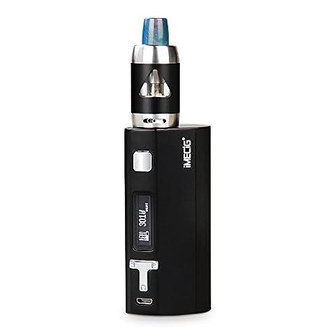 IMECIG® Q5s Kit E Cigarette Électronique 80W Box Mod | Contrôle de température VW | OLED Écran | Top Refill Sub 0.5 Ohm Réservoir | 18650 Batterie Incluse | Sans Nicotine Ni Tabac | Noir