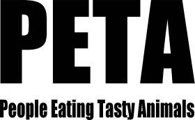 Mister Merchandise Tasche PETA - People eating tasty animals Stofftasche , Farbe: Schwarz Natur