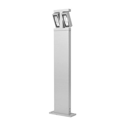 Lampioncino orientabile in alluminio palo con Led design moderno grigio