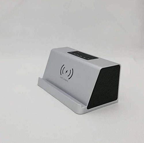 HT11 kreative Smart-Mini-Karte Lautsprecher, drahtlose Aufladung Subwoofer Bluetooth-Lautsprecher, 20h, drahtloses Ladegerät, intelligente Identifizierung Laden Handy drahtlose stolper,skysilver - Walmart-e-karte