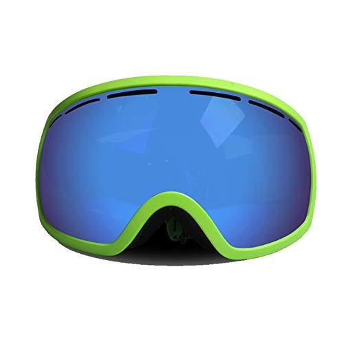Aienid Herren Sportbrille Grün Skibrille Winddichter Augenschutz Size:18.5X11.5CM