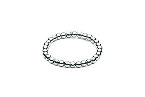 Kugelring elastisch • mini • Silber (50 (15.9)) - Oben Silber Ringe Für Knuckle