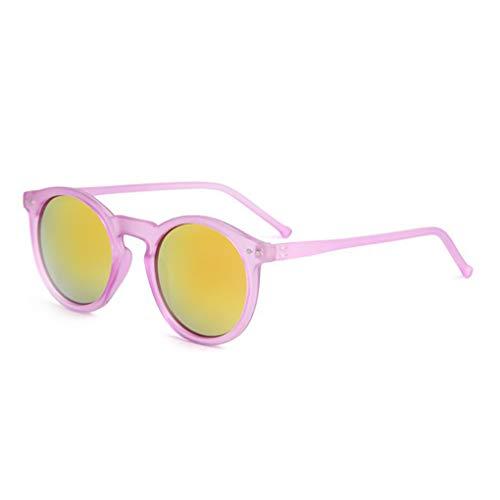 Idyandyans Frauen-Runde Reis-Nagel-Sonnenbrille UV400 Kunststoff-Rahmen UV-Schutz-Brille Weibliche Kreis-Linse Sun Glasses