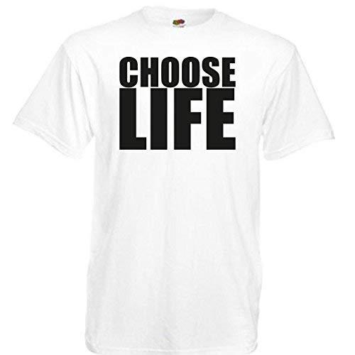 """it dem Aufdruck """"Choose Life"""", 80er, in 8Größen erhältlich Gr. XXXXL, weiß ()"""