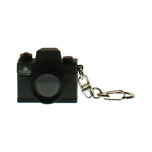 Preisvergleich Produktbild Kamera Schlüsselanhänger mit Sound und LED Blitz - Fotokamera Schlüsselring Spiegelreflex Schlüssel Ring LED mit Sound und LED Blitz