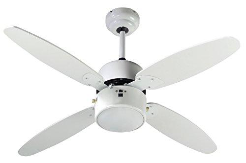 Farelek 112427 Samoa Ventilateur de plafond 4 pales réversible 107 cm