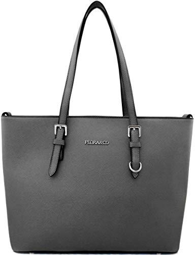 5b5a0beaf0 Shopper Tasche Damen Dunkelgrau Flora & Co Handtasche Schultertasche