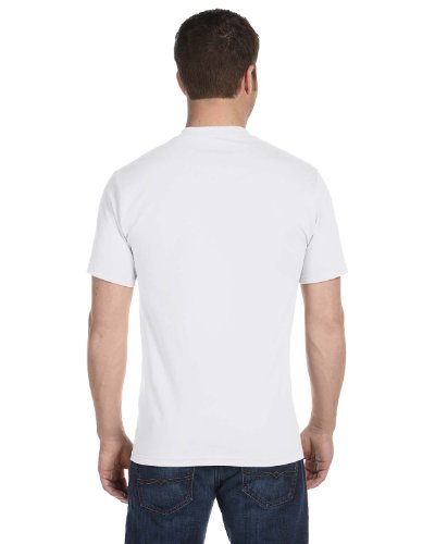 Hanes Mens Double-Needle Stitched Sleeves Cotton Tee Pack of 5 White