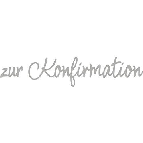 Rayher 60575000 Stanzschablone: zur Konfirmation, 1x2-9,9x2,6cm, SB-Btl 2Stück