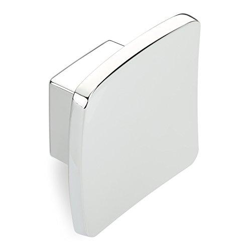 Möbelknopf ROBIN BA 16 mm Chrom poliert 45x45mm Schubladenknopf Küchenknopf Möbelgriff von SCHÜCO ALU COMPETENCE