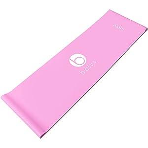 Belus Extralange Fitnessbänder – 2,5 m Lange Pinke, Flache Stretchbänder mit Tragebeutel. Ideal für Dehnung, Reha und Physiotherapie.