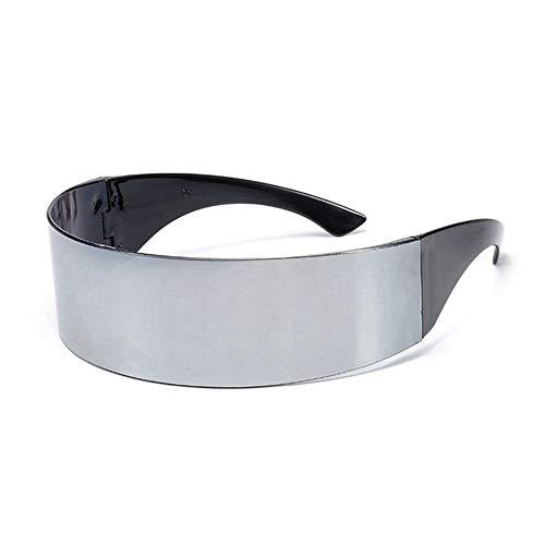 Sxuefang Sonnenbrillen Lustige Futuristischen Wrap Um Kostüm Sonnenbrille Maske Neuheit Gläser Halloween Party Partei Liefert Dekoration