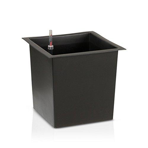 einsatz fuer pflanzkuebel Innenbehälter für Pflanzkuebel mit Bewässerungsset, 29x29x27 cm oder 39x39x36 cm, Blumenkübeleinsatz, Einsatzbehälter, Pflanzeinsatz, Wasserstandsanzeige