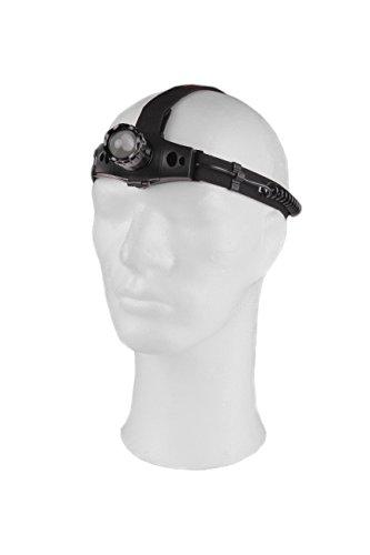 CXS CREE LED Stirnlampe 150 lumen 3W - Wiederaufladbare 2200 mAh Batterie Kopflampe mit Einstellbaren Fokus - Sehr Leicht und Comfortable und Ideal fürs Campen, Lesen, Angeln, Joggen, Fahrrad fahren, Arbeiten - Superhelle Kopfleuchte