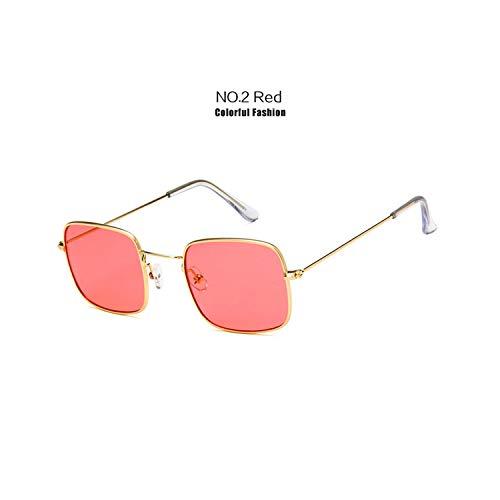 Sportbrillen, Angeln Golfbrille,Brand Sunglasses Women Men Retro Sun Glasses Unisex Summer Style Clear Glasses Vintage Small Frame Sunglasses Red