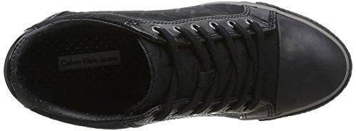 Calvin Klein Jeans Vero, Baskets mode femme Noir (Bbk)