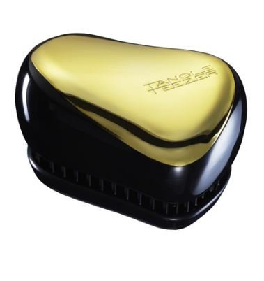 Tangle Teezer Compact Styler Professional Detangling Hair Brush - Black and Gold by Tangle Teezer Ltd. (English Manual)