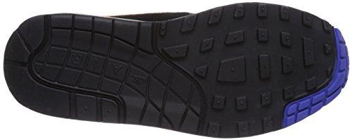 Nike Air Max 1 537383, Unisex-Erwachsene Low-Top Sneaker Mehrfarbig (Black/Hyper Crimson-Red Clay)