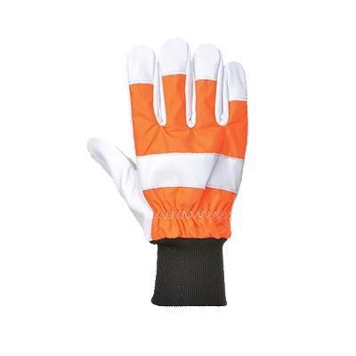 Portwest A290 - Guante de protección de roble de la motosierra, color naranja, talla XL