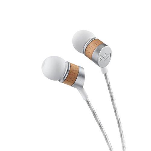 House of Marley Uplift In-Ear Kopfhörer - Geräuschisolierung, Freisprecheinrichtung durch Mikrofon, 8mm Dynamic Treiber, 1-Knopf Steuerung, Ohrstöpsel in 3 verschiedenen Größen - Drift