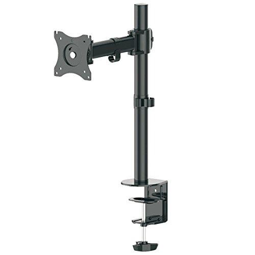 """deleyCON Universal Monitor Tischhalterung - 10"""" bis 32"""" Zoll (25cm-80cm) - bis 8Kg – Max. VESA 100x100mm – Neigbar + Schwenkbar – Tisch Halterung Monitorhalterung"""