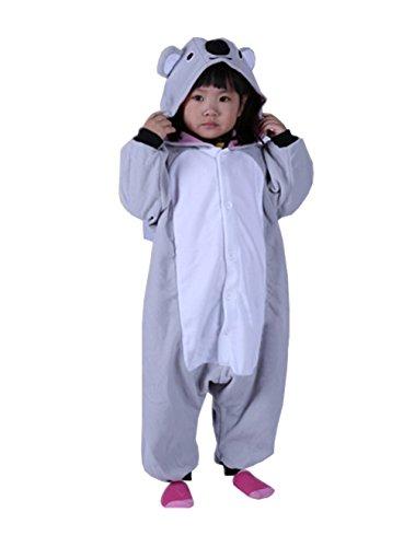 BRLMALL Unisex Children Koala Pyjamas Halloween Onesie Costume