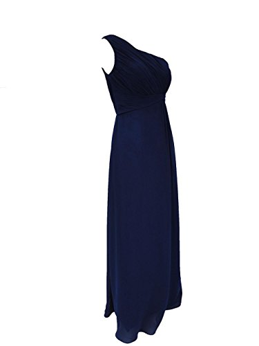 YiYaDawn Langes Ballkleid Brautjunfernkleid One-Shoulder Kleid für Damen Koralle
