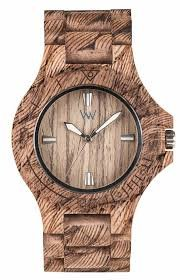 Reloj de madera WeWood Unisex Date Waves Nut Rough