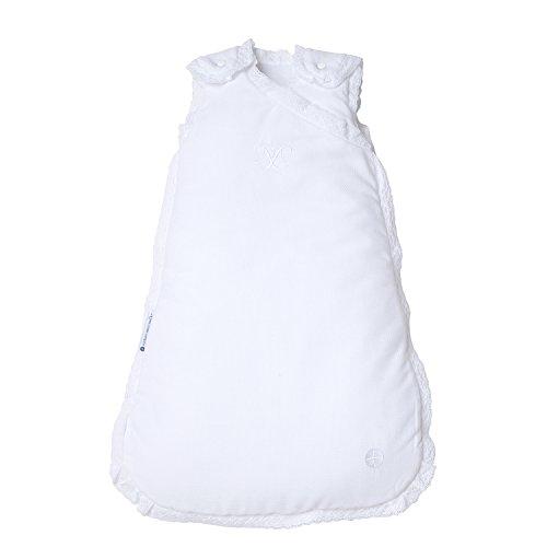 Preisvergleich Produktbild Neugeborenen Schlafsack 60cm von nordic coast | Weiß mit Spitze | 0-3 Monate | Ganzjahres Schlafsack für 18-21° Raumtemperatur | Super Baby Geschenk