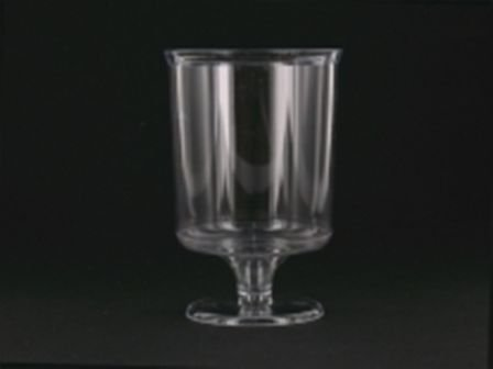 10 verres à pied plastique jetables transparents