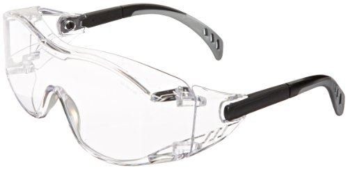 Gateway Safety 6980 COVER2 Safety GLASSES, Clear Lens, Black Temple e3a4540d5ab0