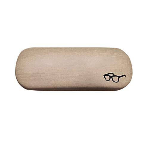 Lidahaotin Holz Muster Lese Brille Fall Sonnenbrillen Box Shell-Schutz beweglicher Eyewear hart Shell