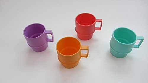 Tupperware 4 Becher a 35 ml bunt Konfetti Schnapsbecher