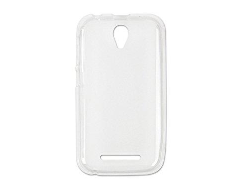 etuo Handyhülle für ZTE Blade L110 - Hülle FLEXmat Case - Weiß - Handyhülle Schutzhülle Etui Case Cover Tasche für Handy