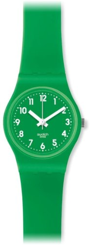 Swatch LG123 - Orologio da polso da donna, cinturino in silicone colore verde