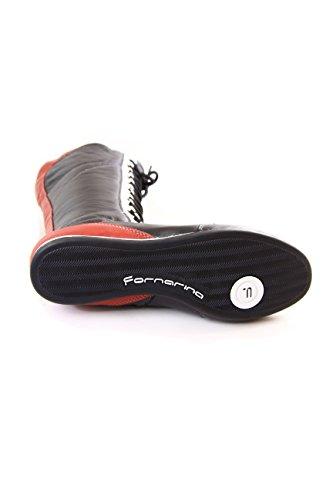 Fornarina stivali vintage in pelle con stringhe e zip mod. PIFLI3743WC Black