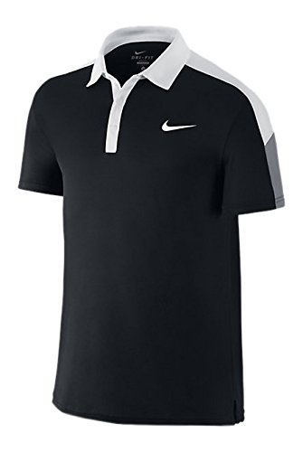 Nike, Polo a maniche corte Uomo Team Court, Nero (Black/White/Cool Grey), M