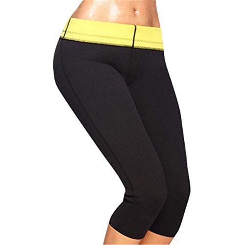 Hot pantaloni per fitness shaper in neoprene,nero,xl