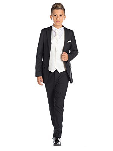 ungen-Anzug, passgenau, Page Gr. 5 Jahre, elfenbeinfarben (Amp Anzug Kostüm)
