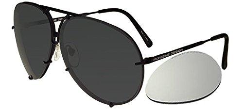 Porsche design - p8478, aviator, titanio, uomo, dark ruthenium/grey blue + silver mirror lens(d/v343), 63/10/135