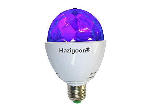 Hazigoon LED-Schwarzlicht-Birne LED-UVstadiums-Licht E26 ultraviolette drehende Birnen DJ KTV Partei-Pub-Verein-Disco- Kugel 3W 390nm Wavelength