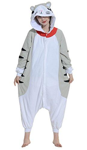 Fandecie Pijama Gato, Onesie Modelo Animales para adulto entre 1,60 y 1,75 m Kugurumi Unisex.