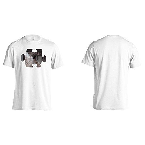 Puzzle bella prospettiva primo punto Uomo T-shirt e744m White