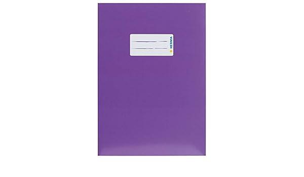 con etichetta per scrivere colore: viola Copertina per quaderno HERMA 19756 in cartone robusto e resistente formato A4